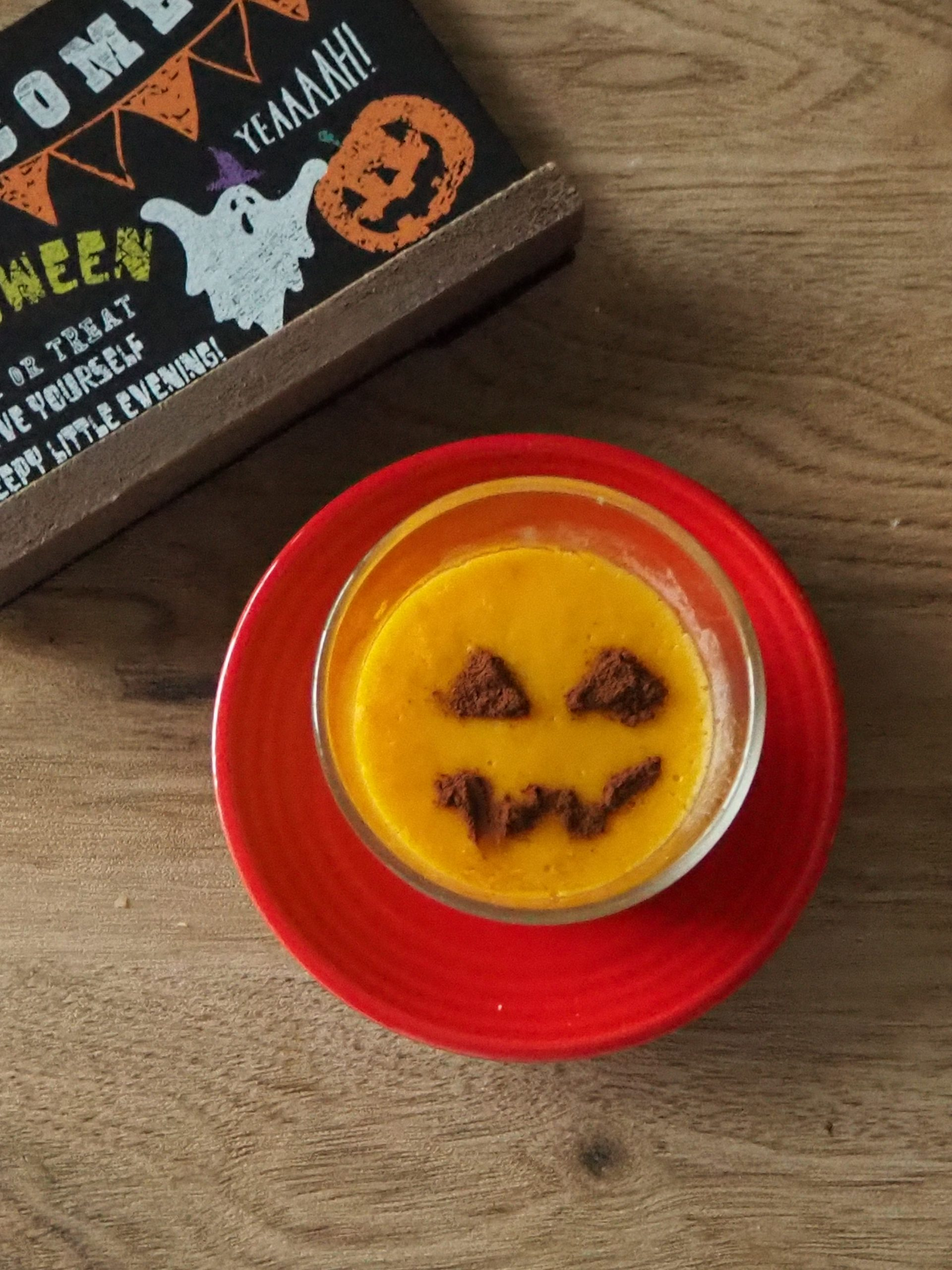 ハロウィンの<BR>    かぼちゃプリン